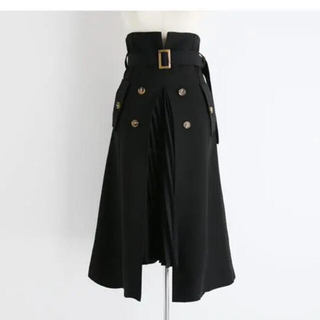 dholic - dholic ベルト付プリーツコントラストスカート♡