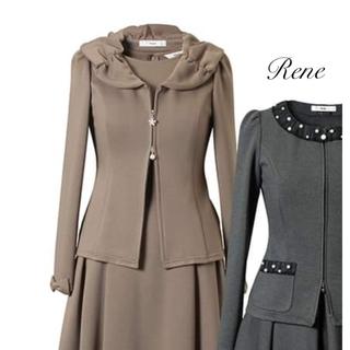 René - 極美品♡Rene ルネ Wジップ ジャケット ブラック