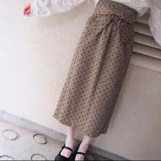 メリージェニー(merry jenny)のメリージェニー ドットリボンタイトスカート(ロングスカート)