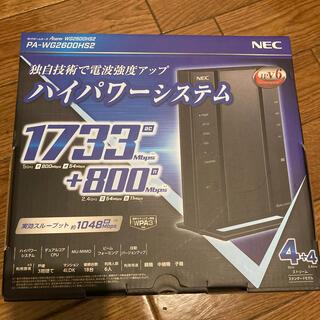 NEC 無線LANルーター Aterm PA-WG2600HS2