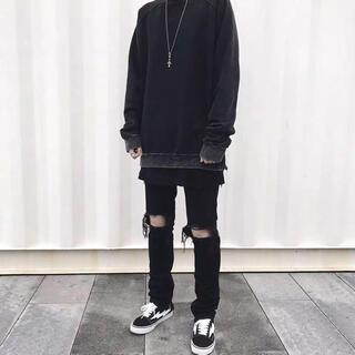 xinyinsuブランド ダメージ デニムジーンズ XXL ブラック(デニム/ジーンズ)