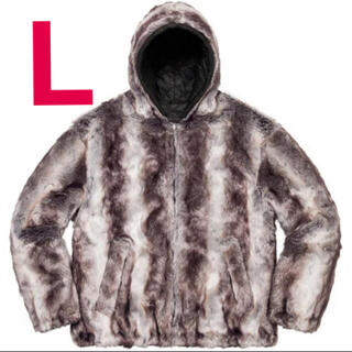 Supreme - supreme Faux Fur Reversible Hooded  L