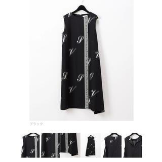 GRACE CONTINENTAL - グレースコンチネンタル ウールレタードワンピース ドレス ブラック