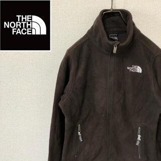 ザノースフェイス(THE NORTH FACE)のノースフェイス☆刺繍ロゴ フリースジャケット ブラウン ポーラテック Sサイズ(ブルゾン)