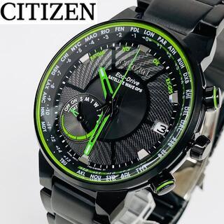 シチズン(CITIZEN)の【海外限定】定価10.4万 CITIZEN 新品 メンズ 電波時計 ブラック(腕時計(アナログ))
