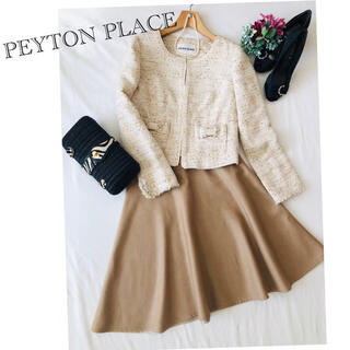 Peyton Place - 美品 ♡ スーツ セットアップ レディース 2点 ノーカラージャケットフォーマル
