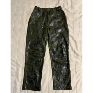 JOHN LAWRENCE SULLIVAN - Python fake leather pants vintage