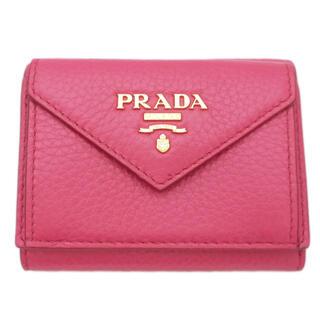 PRADA - 新品プラダPRADA三つ折りコンパクト財布 ピンク(PEONIA) 1MH021