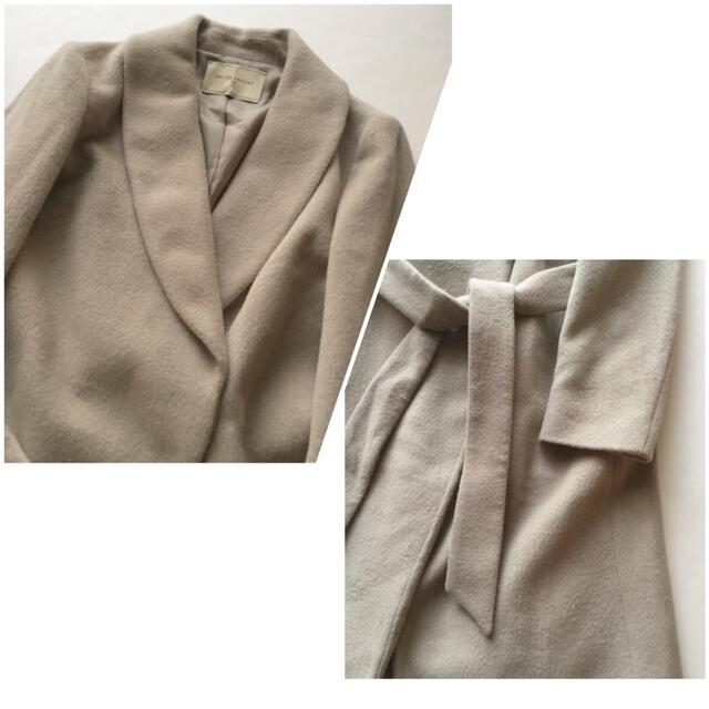 UNITED ARROWS(ユナイテッドアローズ)のほぼ新品♡ユナイテッドアローズ アンゴラウールロングチェスターコート レディースのジャケット/アウター(ロングコート)の商品写真