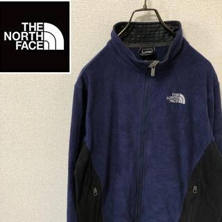 ザノースフェイス(THE NORTH FACE)のノースフェイス☆刺繍ロゴ フリースジャケット ネイビー メンズM(ブルゾン)
