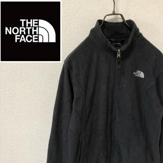 ザノースフェイス(THE NORTH FACE)のノースフェイス☆刺繍ロゴ フリースジャケット ブラック(ブルゾン)