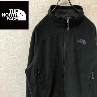 ザノースフェイス(THE NORTH FACE)のノースフェイス WINDWALL フリース ジャケット ブラック 刺繍ロゴ(ブルゾン)