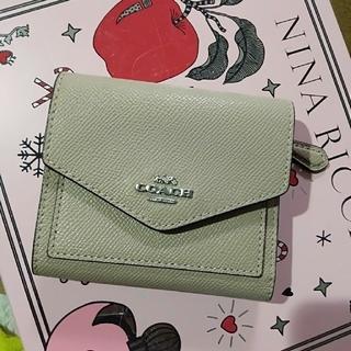 COACH - コーチ三つ折り財布COACHミニ財布TAUPEやや美品