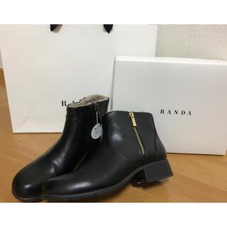 新品 RANDA ランダ スパイク付ショートブーツ インソールファー