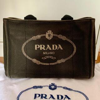 プラダ(PRADA)のPRADA デニムファブリック ハンドバッグ カナパ(ハンドバッグ)