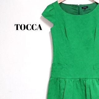 TOCCA - ラグジュアリー☆ アースカラー トッカ ワンピース 花刺繍 グリーン レディース