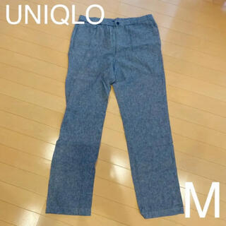 UNIQLO - UNIQLOコットンリネンパンツ メンズM