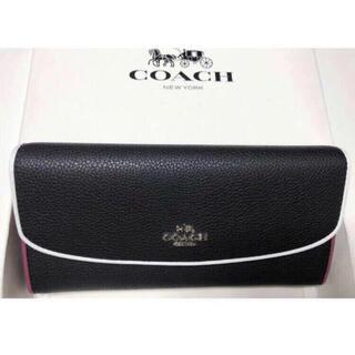 COACH - 新品未使用品★コーチ エッジペイント ペブルド レザー長財布 F12586