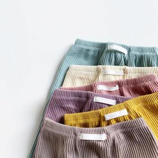 petit main - 春秋冬 赤ちゃん レギンス リブ リブパンツ ベビー服 ズボン パンツ 韓国
