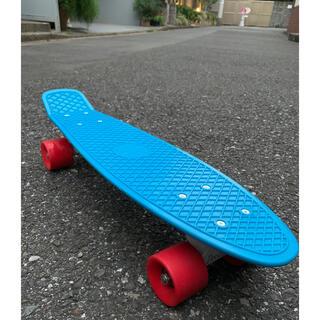 【美品】Penny ペニー ミニクルーザー スケボ スケートボード ブルーレッド(スケートボード)