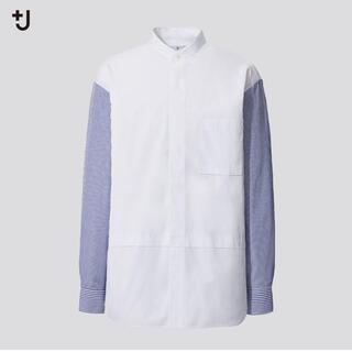 UNIQLO - +J スーピマコットン オーバーサイズシャツ (長袖・ストライプ) ユニクロ