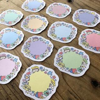 カラー帽子のミニメッセージカード    ✎*。幼稚園・保育園・先生に(カード/レター/ラッピング)