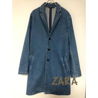 ザラ(ZARA)の美品 ZARA  デニムコート Lサイズ(チェスターコート)