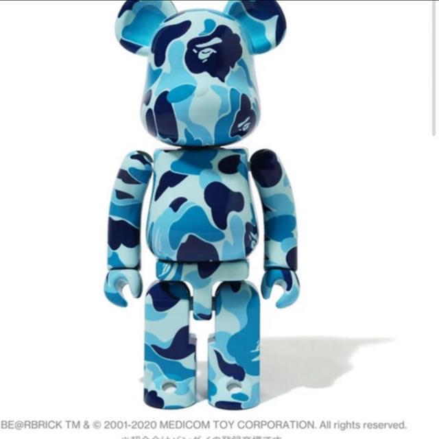 超合金 BE@RBRICK ABC CAMO BLUE ape ベアブリック ハンドメイドのおもちゃ(フィギュア)の商品写真