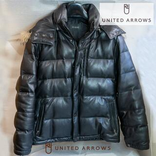 UNITED ARROWS - 定価10万 美品 UNITED ARROWS レザーダウン ジャケット