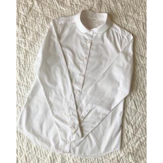 MUJI (無印良品) - 無印良品 丸襟白シャツ