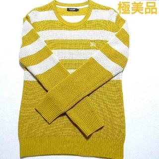 バーバリーブラックレーベル(BURBERRY BLACK LABEL)の🖤人気作デザインニットセーター厚手🖤極美品🖤(ニット/セーター)