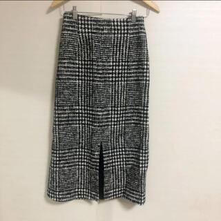 トゥモローランド(TOMORROWLAND)の新品同様美品TOMORROWLAND  Ballsey チェック ロングスカート(ロングスカート)