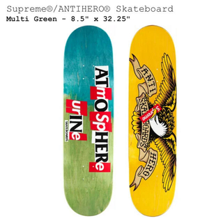 シュプリーム(Supreme)のSupreme ANTIHEROSkateboard Green 8.5(スケートボード)