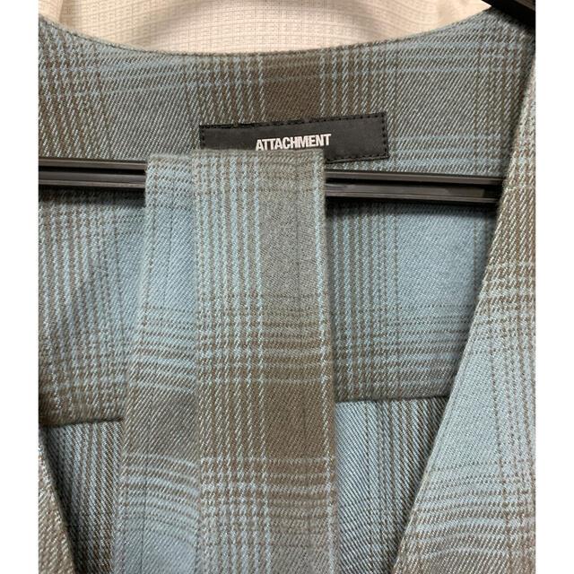 ATTACHIMENT(アタッチメント)のATTACHMENTアタッチメント 超長綿ネルチェックローブコート メンズのジャケット/アウター(その他)の商品写真
