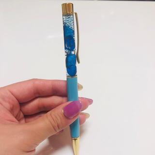 ハーバリウムボールペン 紫陽花 青 ハンドメイド(その他)
