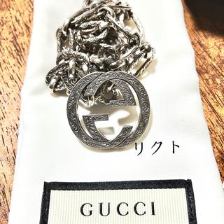 Gucci - GUCCI ネックレス インターロッキングG ラージ 即日発送可