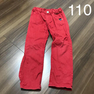 ダブルビー(DOUBLE.B)のミキハウス ダブルビー  パンツ 110cm 赤 ひざに穴あり(パンツ/スパッツ)