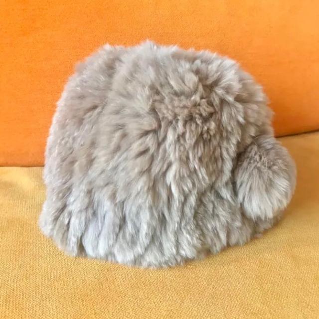 earth music & ecology(アースミュージックアンドエコロジー)のアースミュージックアンドエコロジー ファー帽子 ラビットファー 冬 レディースの帽子(ニット帽/ビーニー)の商品写真