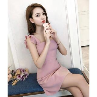キャバミニドレス ワンピース ピンク