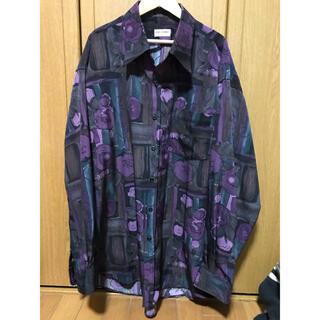 LAD MUSICIAN - HAE CHANG 長袖シャツ フラワーシャツ ローズシャツ パープルフラワー
