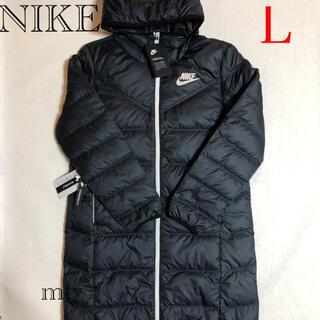ナイキ(NIKE)のNIKE レディースダウン リバーシブル ブラックLサイズ(ダウンコート)