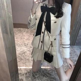 エブリン(evelyn)のリボンツイードセットアップ 韓国ファッション(セット/コーデ)