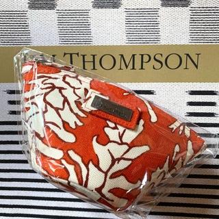 ジムトンプソン(Jim Thompson)の新品ジムトンプソンポーチ オレンジ 赤 朱色(ポーチ)