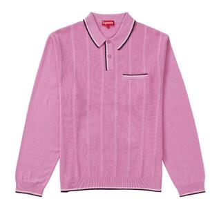 シュプリーム(Supreme)のSupreme Stripe Rib L/S Knit Polo (Tシャツ/カットソー(七分/長袖))