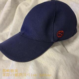 Gucci - GUCCIグッチ キャップ 帽子 ネイビー サイズM 中古A 正規購入 本物