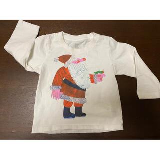 Design Tshirts Store graniph - グラニフ はらぺこあおむし シャツ 80(90) サンタクロース 中古