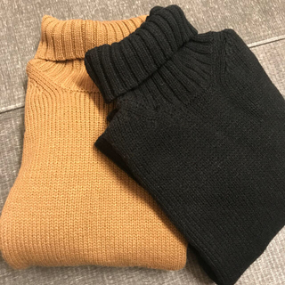GU - GU♡ ローゲージタートルネックセーター