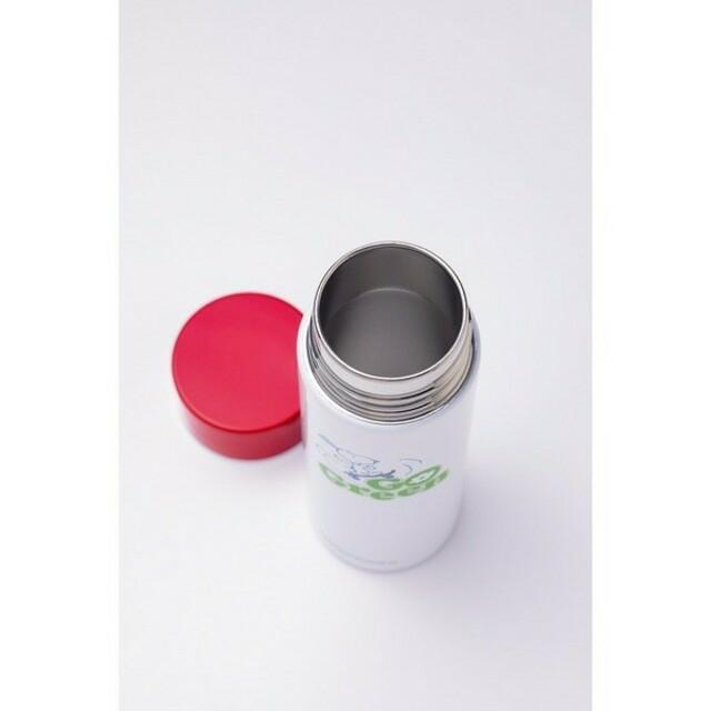 SNOOPY(スヌーピー)のSNOOPY スヌーピー ステンレス ボトル GLOW 付録 インテリア/住まい/日用品の日用品/生活雑貨/旅行(日用品/生活雑貨)の商品写真