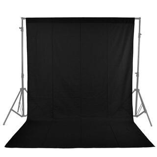 黒色ブラック布バック写真撮影用背景布クロマキー(1.6m×1m)バックペーパー