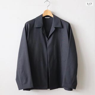 1LDK SELECT - AURALEE ウールシルクトロピカルシャツジャケット 19ss